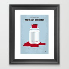 No748 My American Gangster minimal movie poster Framed Art Print