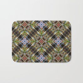 Geometric Frozen Roots Bath Mat