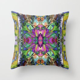 monarch approaching Throw Pillow