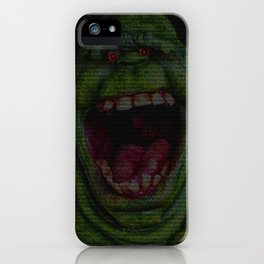 Slimer: Ghostbusters Screenplay Print iPhone Case