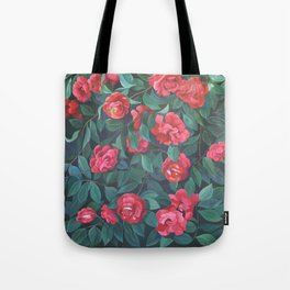 Camellias, lips and berries. Tote Bag
