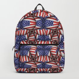 4th of July Modern Usa Flag Pattern Backpack