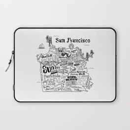 San Francisco Map Illustration Laptop Sleeve