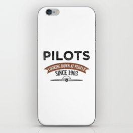 Pilot Proud Aviation Lover Gift Idea iPhone Skin