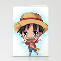 luffy Stationery Cards featuring Luffy by Midnight Tardis