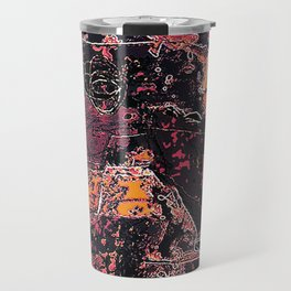 Vibrant Grunge Abstract Texture Print Travel Mug