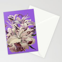 """""""Purple Lilies"""" Stationery Cards"""