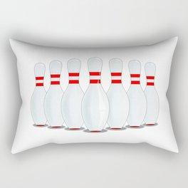 Ten Pins Rectangular Pillow