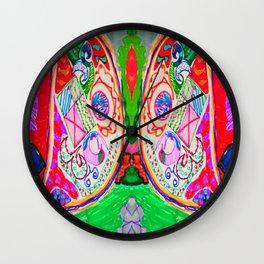 Pop Angel by Elisavet Wall Clock