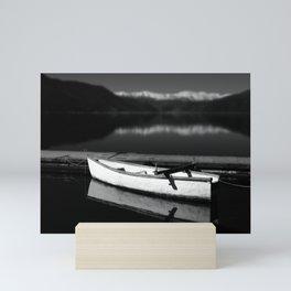 White boat Mini Art Print