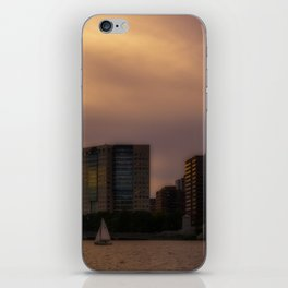 City at sunset iPhone Skin