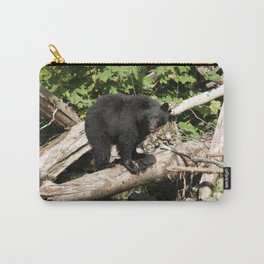 The Fisherman- Black Bear and Stream Carry-All Pouch