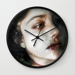 """The moment (portrait)"" Wall Clock"
