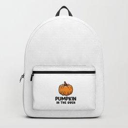 Pregnancy Halloween Pumpkin In The Oven Pregnant Women Backpack