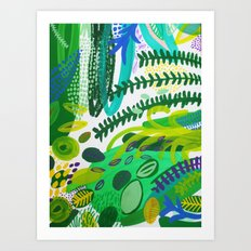 Between the branches. IV Art Print