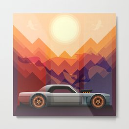 Into the Sun, Ford Mustang 65 KB Metal Print