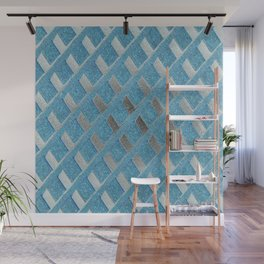 Blue Grill Abstract Wall Mural
