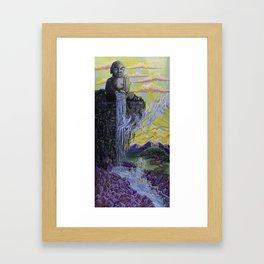 Buddha Fly Waterfall Framed Art Print
