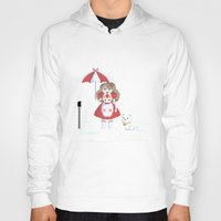 puppycat Hoodies featuring Bee and Puppycat in the Rain by Paul Scott (Dracula is Still a Threat)