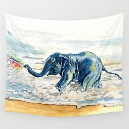 Spraying Rainbows Wall Tapestry