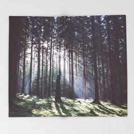 Magic forest - Landscape and Nature Photography Throw Blanket