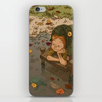 bouletcorp iPhone & iPod Skins featuring La rivière aux tortues by Bouletcorp