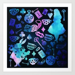 Alice in Wonderland - Galaxy Art Print