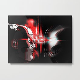 Cap Vs. Ironman! Metal Print