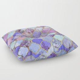 Royal Purple, Mauve & Indigo Decorative Moroccan Tile Pattern Floor Pillow