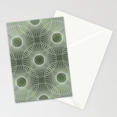 Circled in Shades of Emerald Green Stationery Cards