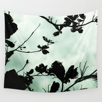 silhouette Wall Tapestries featuring Silhouette  by Chelsea Merola
