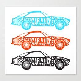 A Fast Sport Car Canvas Print
