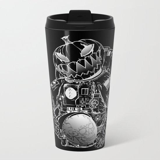 Spooky Astronaut Metal Travel Mug