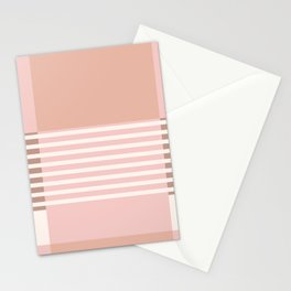 Marfa Abstract Geometric Print in Pink Stationery Cards