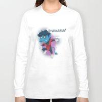 nightcrawler Long Sleeve T-shirts featuring Little Nightcrawler by Alex Santaló