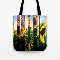 maryland Tote Bags featuring Sunflowers in Maryland by kpatron