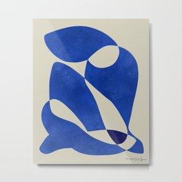 Blue Nude Geometric Modern Print Metal Print