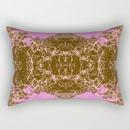Erina - Abstract Colorful Pink Chic Batik Tie-Dye Style Butterfly Rectangular Pillow
