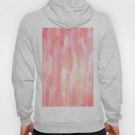 Abstract Layered Brush Texture Flamingo Color Orange Pink Shade Hoody