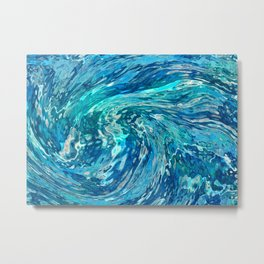 Fantastic abstract wave Metal Print