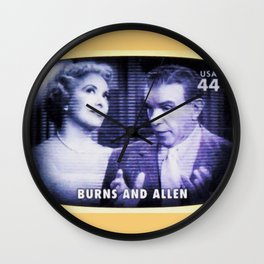 Burns and Allen Wall Clock
