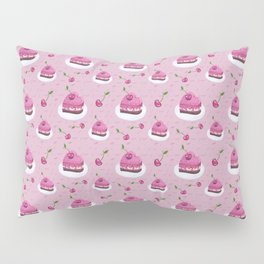 Cherries and cakes cute pattern Pillow Sham