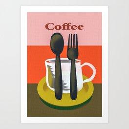 Coffee Glass Tablespoon Art Print