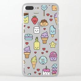 Kawaii Dessert Patten Clear iPhone Case