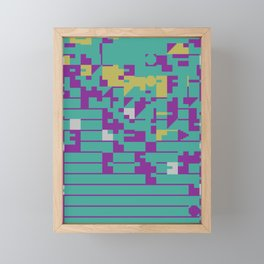 Abstract 8 Bit Art Framed Mini Art Print