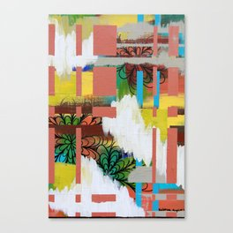 """cloudy color"" Canvas Print"