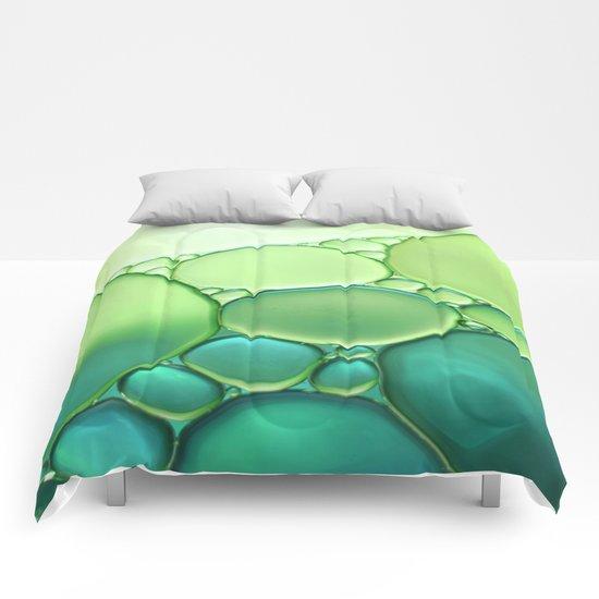 Jade Ombre Bubbles Comforters