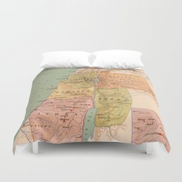 Map of Palestine in the Time of Christ (to 70 A.D.) Duvet Cover