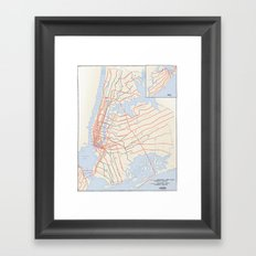 Plans for New York Subway Expansion, 1920 Framed Art Print