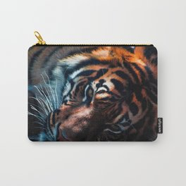 Spectacular Elegant Great Tiger Close Up UHD Carry-All Pouch